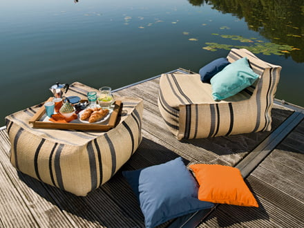 Outdoor-Design mit dem Chill Sessel & Chill Hocker