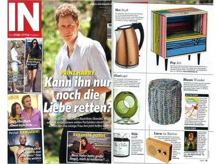 Presse In Magazin August 2012 cover + Artikel