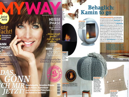 "Presse Mayway 12/2012 ""Behaglich: Kamin to go"""