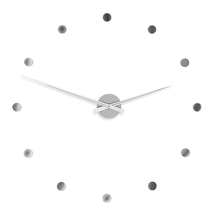 Radius Design - Flexible Wanduhr in Silber