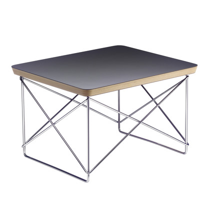Eames Occasional Table LTR von Vitra in schwarz