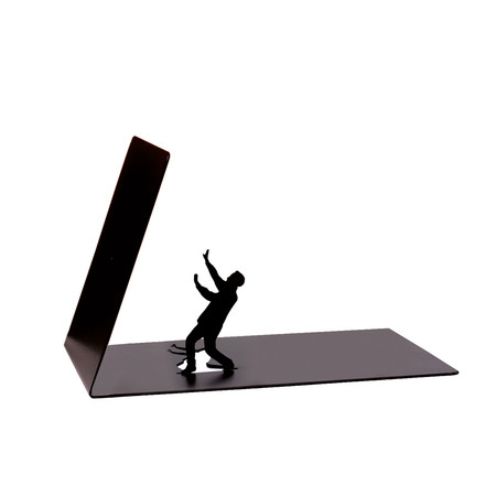 Falling Bookend von Artori Design in Schwarz