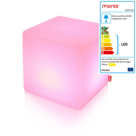 Moree LED Cube, pink