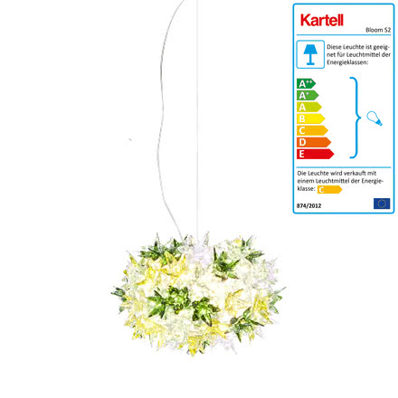 Kartell - Bloom S2 Pendelleuchte, minze