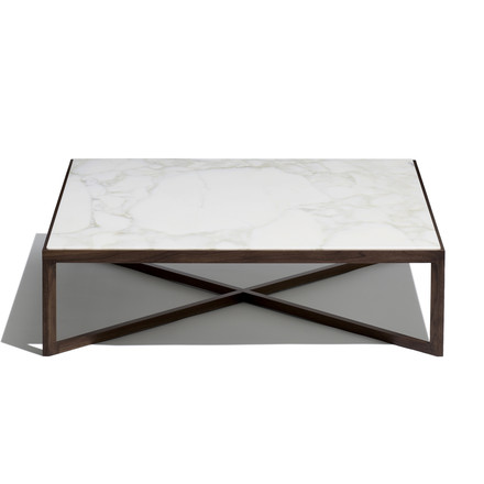 Knoll - Krusin Coffee Table, weiß marmorierte Oberfläche