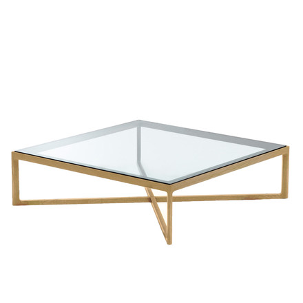 Knoll - Coffee Table, Eiche / Glasplatte