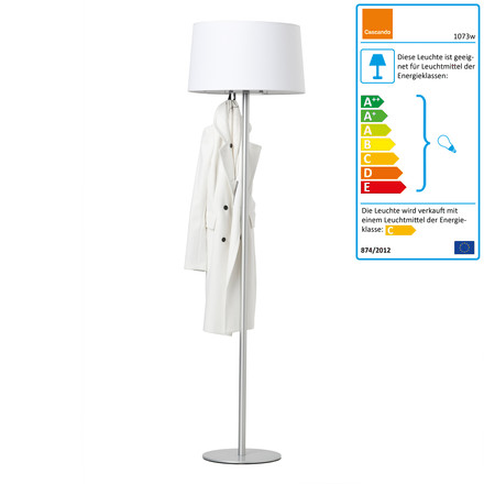 Cascando - Coat Lamp, weiß