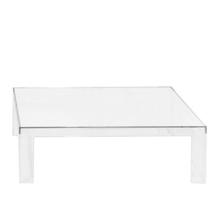 Kartell - Invisible Table H 31,5cm, glasklar