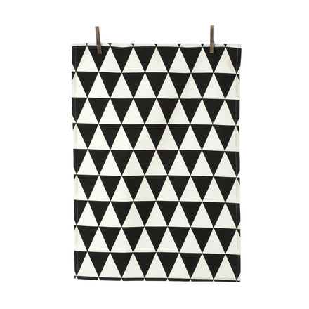 ferm Living - Organic Tea Towels Geschirrtücher, triangle black