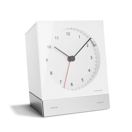 Jacob Jensen - Alarm Clock Series Quartz 342, weiss