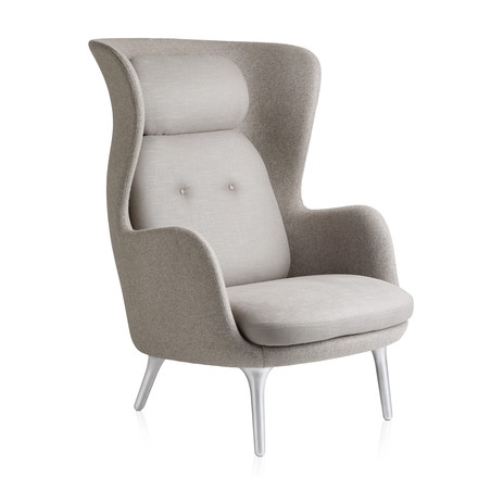 Fritz Hansen - Ro Sessel, taupe / taupe