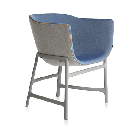 Fritz Hansen - Minuscule Stuhl, light grey 123, cobalt blue 762