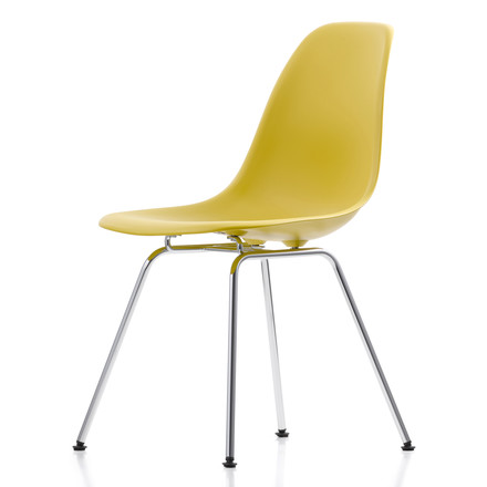 Eames Plastic Side Chair DSX von Vitra in gelb