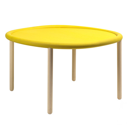 Hay - Serve Table, Tisch, Buche, gelb, 72cm