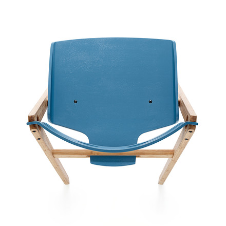 We do wood - Dining Chair no. 1 blau, Draufsicht