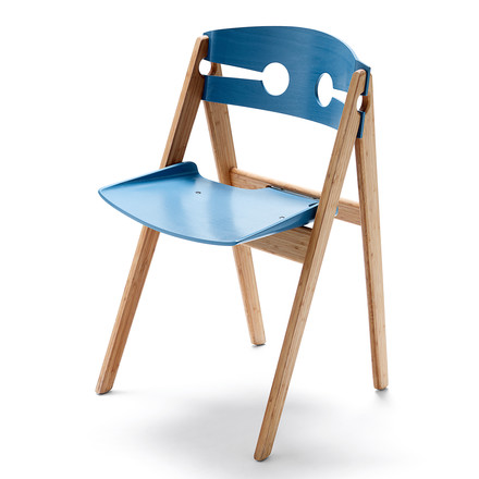 We do wood - Dining Chair no. 1, blau