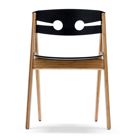 We do wood - Dining Chair no. 1 schwarz, Vorderansicht