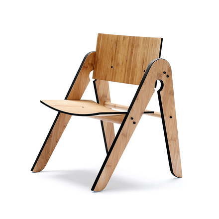 We do wood - Lilly's Chair, schwarz