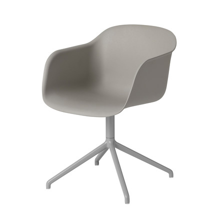 Fiber Chair - Swivel Base von Muuto in Grau / Grau
