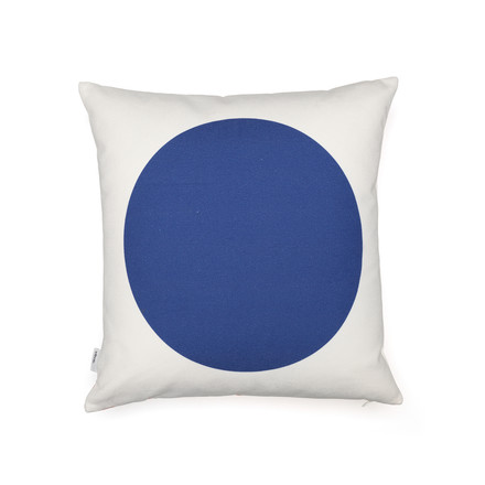 Vitra - Graphic Print Pillow - Rectangles / Circle 40 x 40 cm, rot / blau, blaue Seite