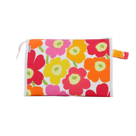 Marimekko - Mini-Unikko Media Kosmetiktasche, weiß / orange