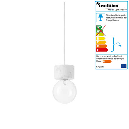 &Tradition - Marble Light SV4 Pendelleuchte in Weiss
