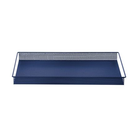 Metal Tray Large von ferm Living in Blau