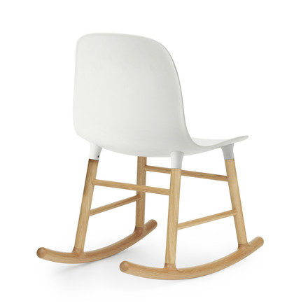 Form Rocking Chair von Normann Copenhagen aus Eiche in Weiß