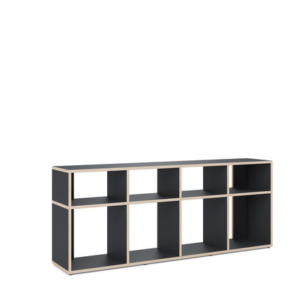 Ivy Shelf Grid Bench von Tylko in Schwarz