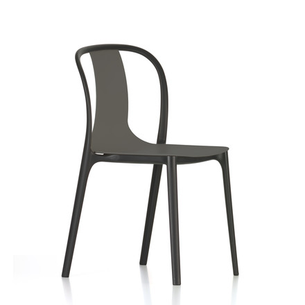 Belleville Chair Plastic von Vitra in Basalt
