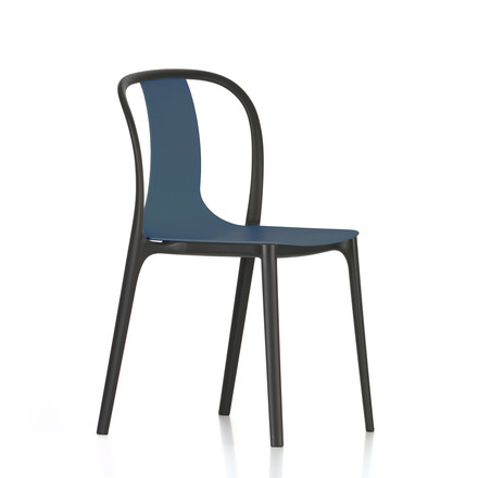 Belleville Chair Plastic von Vitra in Meerblau