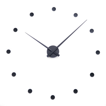 Radius Design - Flexible Wanduhr, schwarz