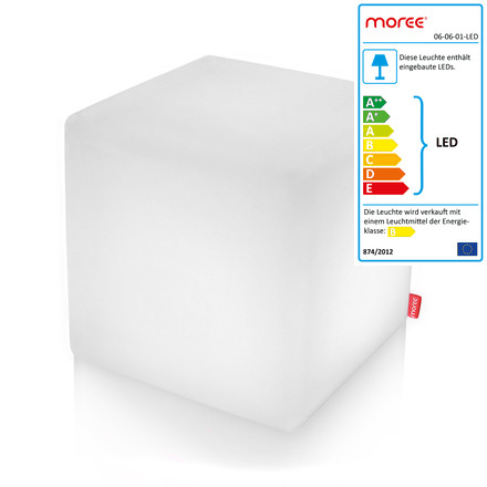 Moree - Cube Outdoor LED, Transluzent-weiß