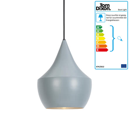 Beat Light Fat Pendelleuchte von Tom Dixon in Grau