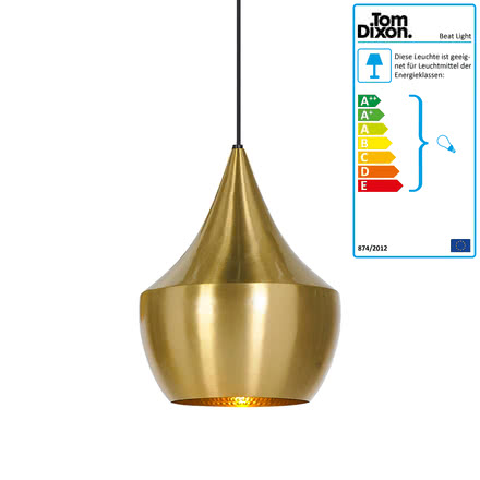Beat Light Fat Pendelleuchte von Tom Dixon aus Messing