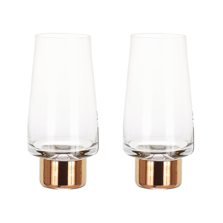 2er-Set Tank High Ball Glas von Tom Dixon