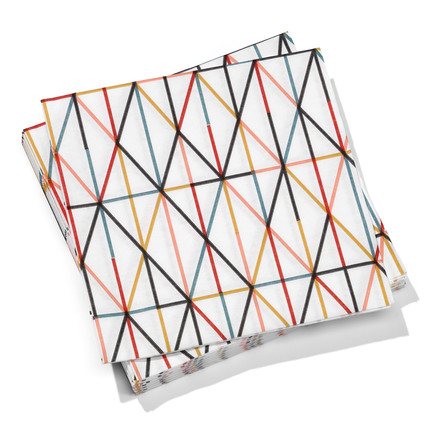 Vitra - Paper Napkins large, Grid multicolour 40 x 40 cm