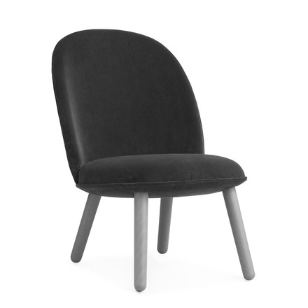 Ace Lounge Chair Velour von Normann Copenhagen in Grau