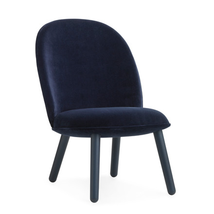 Ace Lounge Chair Velour von Normann Copenhagen in Dark Blue