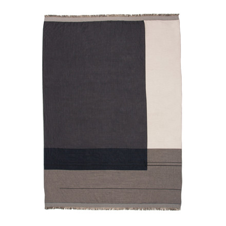 Colour Block Throw von ferm Living in Grau
