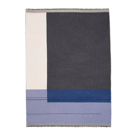 Colour Block Throw von ferm Living in Blau
