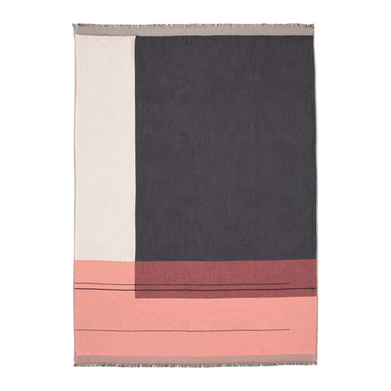 Colour Block Throw von ferm Living in Rose