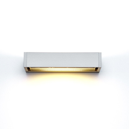 SML Wall Lamp, silver anodised