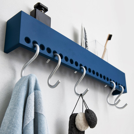 Nomess - So-Hooked Wandgarderobe, blau