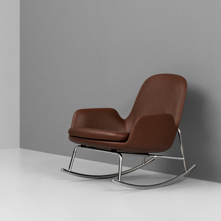 Normann Copenhagen - Era Rocking Chair Schaukelstuhl low, braun