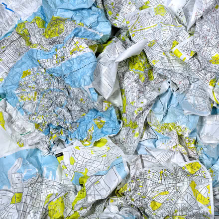 Palomar - Crumpled City Map