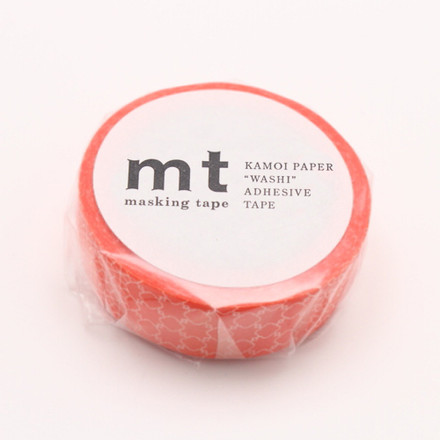 Masking Tape - 1P Deco Series Line Pattern Red