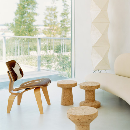 Vitra - Hocker - Cork Family - Plywood Stuhl