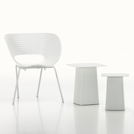 Vitra - White Collection - Metal Side Table / Tom Van Stuhl, elfenbein / weiß