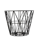 ferm Living - Wire Basket Small, schwarz